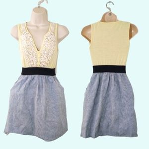 Anthropologie Staring at Stars Fit & Flare Dress